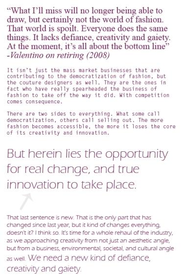 Valentino 2008 Response